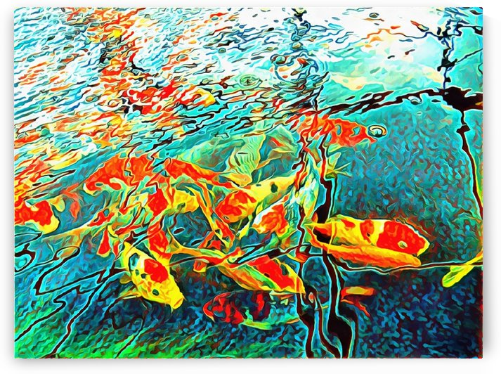 Koi Carp Abstraction by Dorothy Berry-Lound