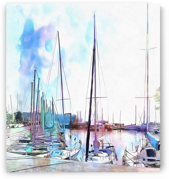 A Colour Wash Of Boats by Dorothy Berry-Lound