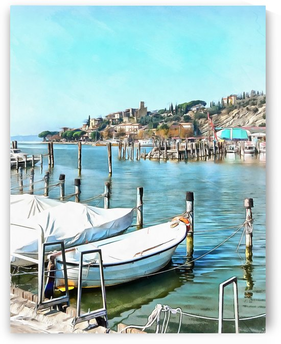Moored Boats at Passignano by Dorothy Berry-Lound