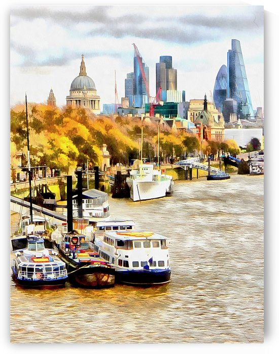View to St Pauls  by Dorothy Berry-Lound