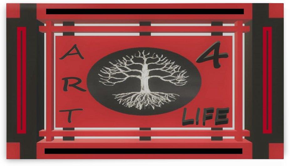 ART 4 LIFE UNIVERSAL WAR FLAG by KING THOMAS MIGUEL BOYD