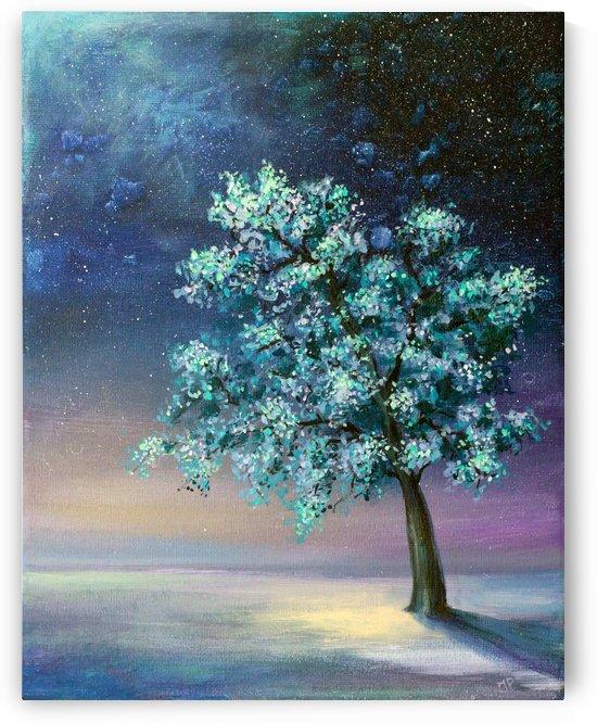 Night Tree by Ineta Petersone