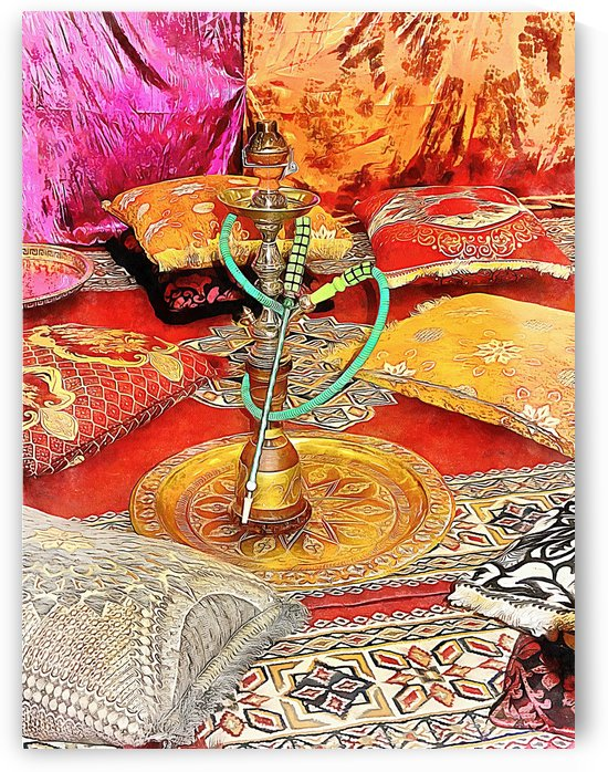 Exotic Oriental Hookah Pipe 2 by Dorothy Berry-Lound