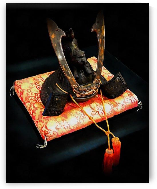 Samurai Helmet With Tassels by Dorothy Berry-Lound