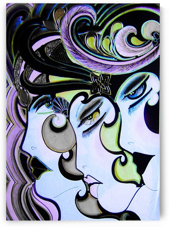TRIO OF ART DECO DOLLY FLAPPER GIRLS by jacqueline mcculloch