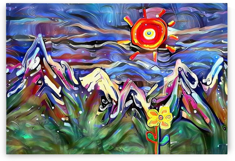 Mountain Landscape with Flowers by Bruce Rolff