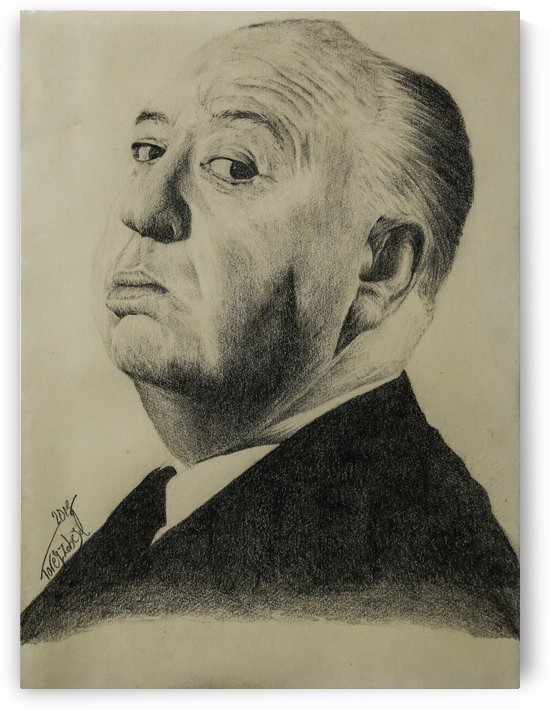 Alfred Hitchcock  by Tpencilartist