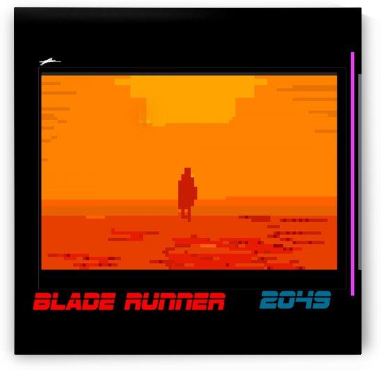 BLADE RUNNER 2049 PIXEL ART by C J M Blundell