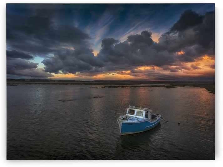 Fishing boat in Penclawdd by Leighton Collins