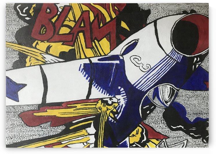 Tribute to Roy Lichtensteins BLAM by EF Kelly