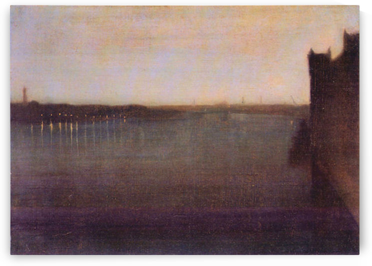 Nocturne in gray and gold, Westminster Bridge by James Abbot McNeill Whistler by James Abbot McNeill Whistler