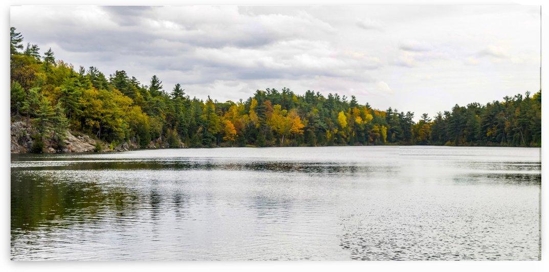 Pink Lake Panorama by Bob Corson