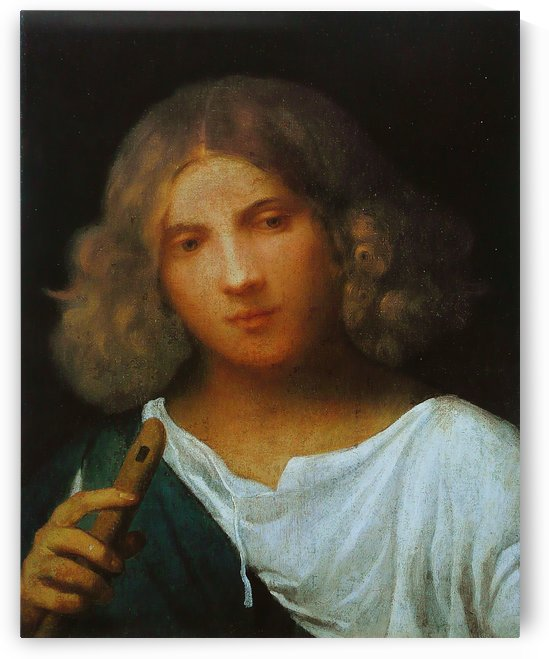 Boy with flute by Giorgione