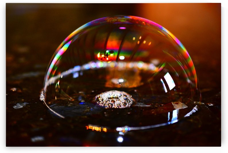 Rainbow Bubble Abstract by Puzbie