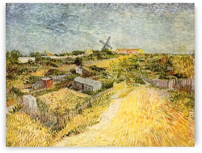 Vegetable Gardens in Montmartre by Van Gogh by Van Gogh
