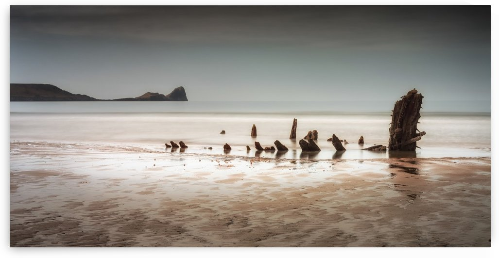 The Helvetia at Rhossili Bay South Wales UK by Leighton Collins