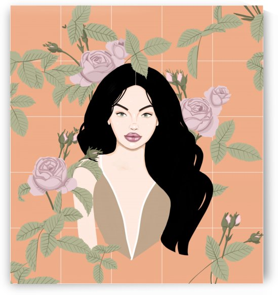 Minimalist illustration girl by Ornella Art