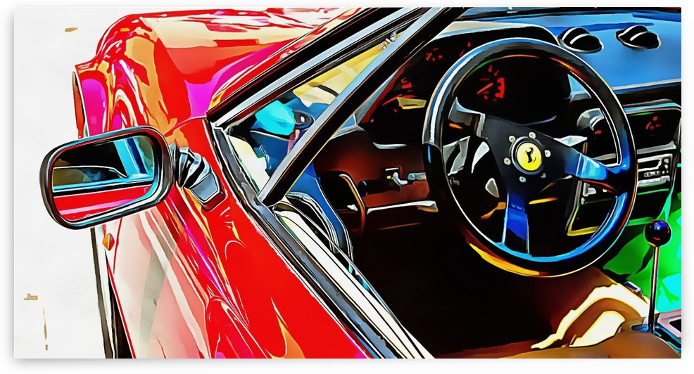 Ferrari Mondiale Through the Window by Dorothy Berry-Lound
