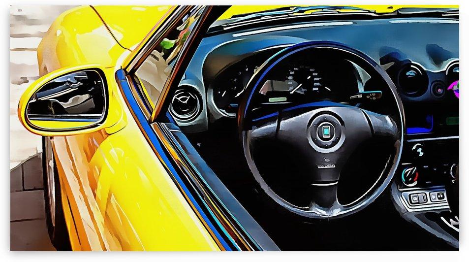Mazda MX5 Through the Window by Dorothy Berry-Lound