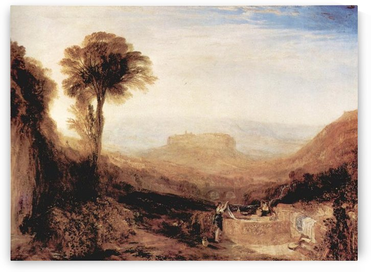 View of Orvieto, painted in Rome by Joseph Mallord Turner by Joseph Mallord Turner