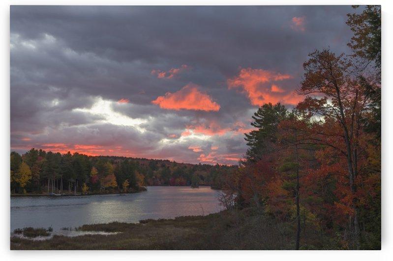 Autumn Sunset on Messer Pond by Bob Corson
