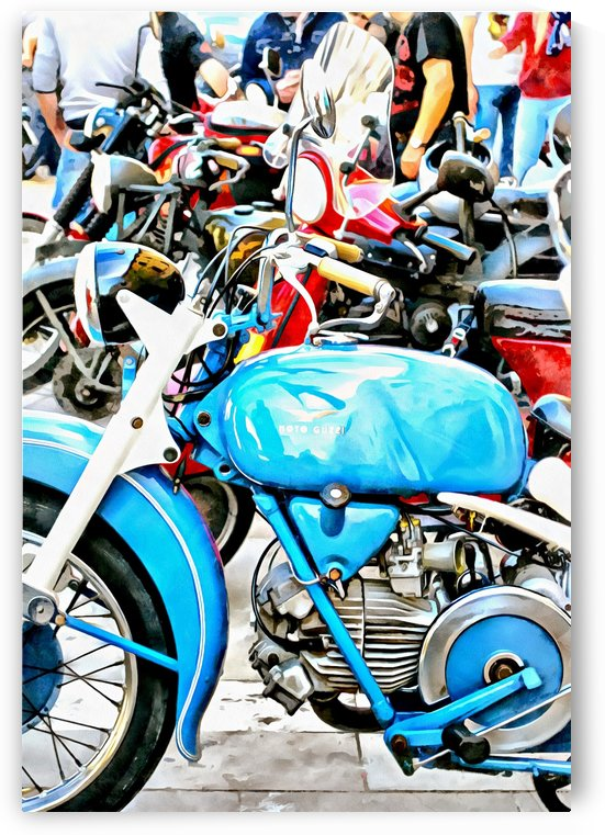 Blue Moto Guzzi And Friends by Dorothy Berry-Lound