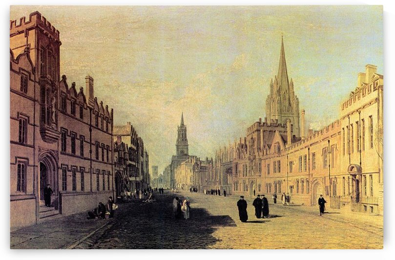 View the High Street, Oxford by Joseph Mallord Turner by Joseph Mallord Turner