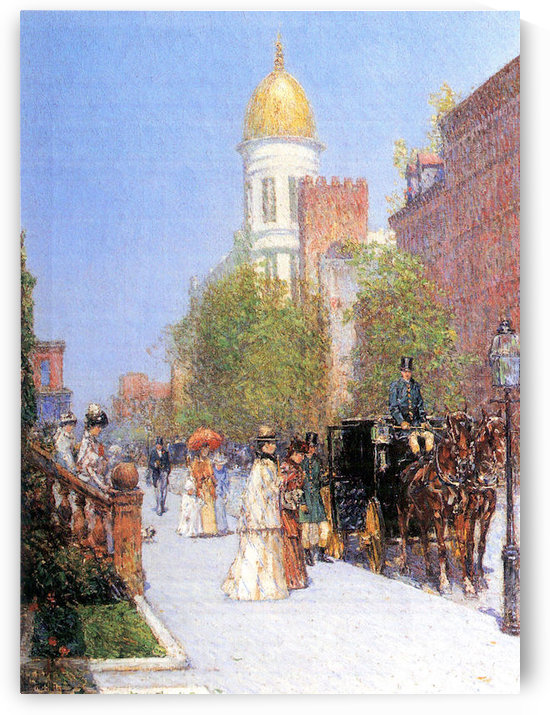 One spring morning by Hassam by Hassam