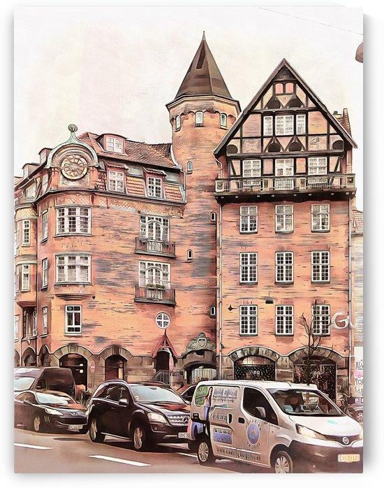 Street Scene Copenhagen by Dorothy Berry-Lound
