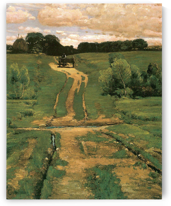 Open land by Hassam by Hassam