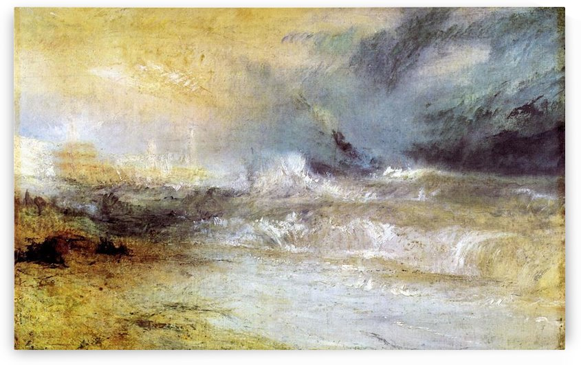 Waves breaking on a lee shore by Joseph Mallord Turner by Joseph Mallord Turner