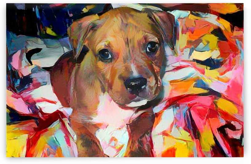 Dog Painting by NganHongTruong