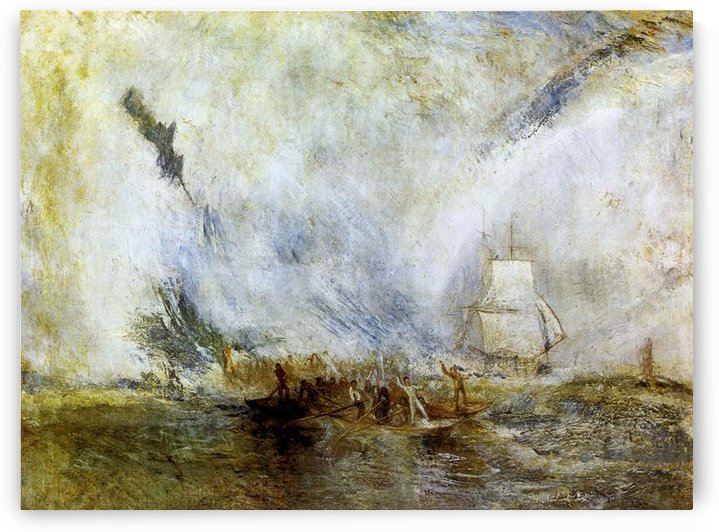 Whalers -1- by Joseph Mallord Turner by Joseph Mallord Turner