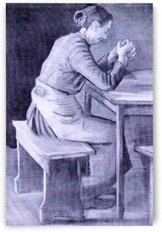 Woman praying by Van Gogh by Van Gogh