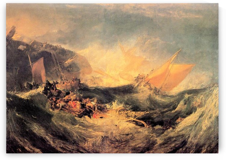Wreck of a transport ship by Joseph Mallord Turner by Joseph Mallord Turner