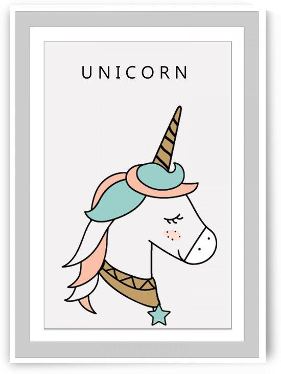 Cute Unicorn in Gray Frames by Gunawan Rb