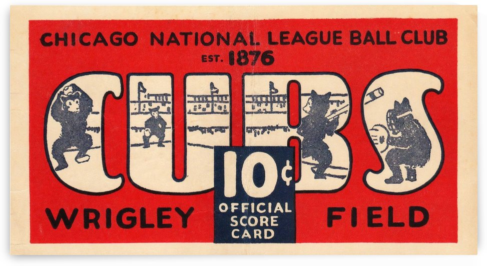 1929 Chicago Cubs score card by Chad Dollick