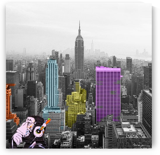 New York - Empire State Building by Jean-Louis Desrosiers