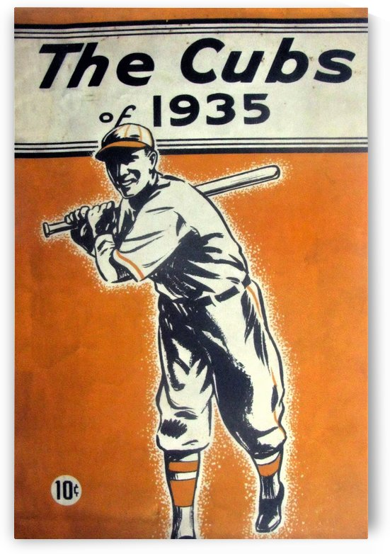 1935 Chicago Cubs Program Cover by Chad Dollick
