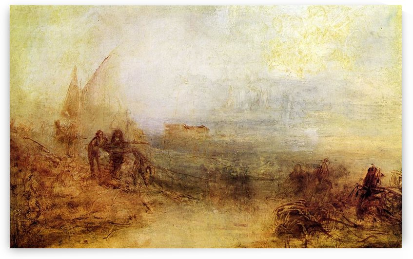 Wreckers on the coast by Joseph Mallord Turner by Joseph Mallord Turner