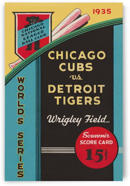 1935 Chicago Cubs World Series Program Cover by Chad Dollick