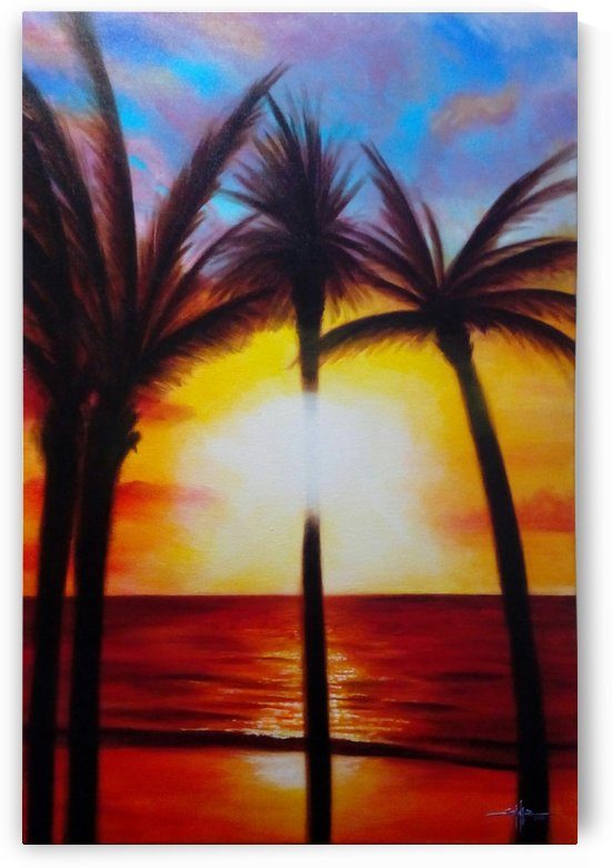 Waikiki Sunset by Larry Schultz