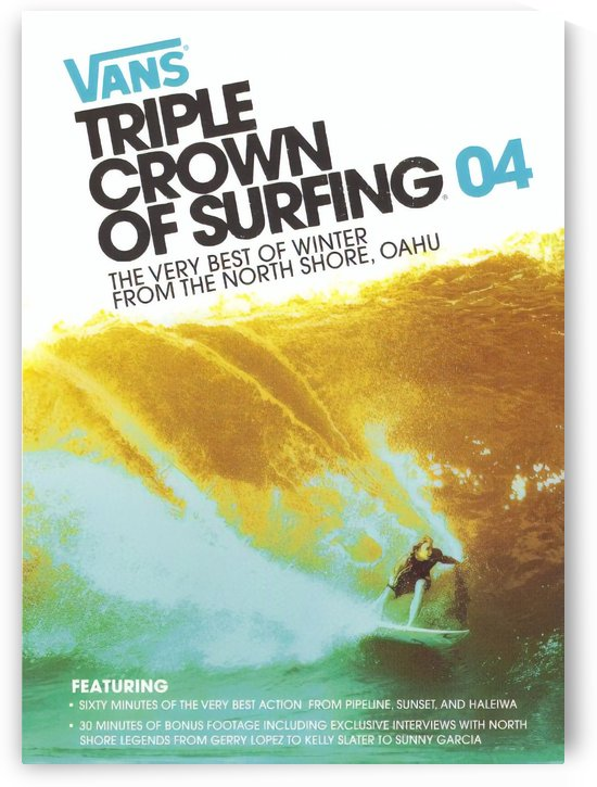 2004 VANS TRIPLE CROWN Surfing Competition Poster by Surf Posters