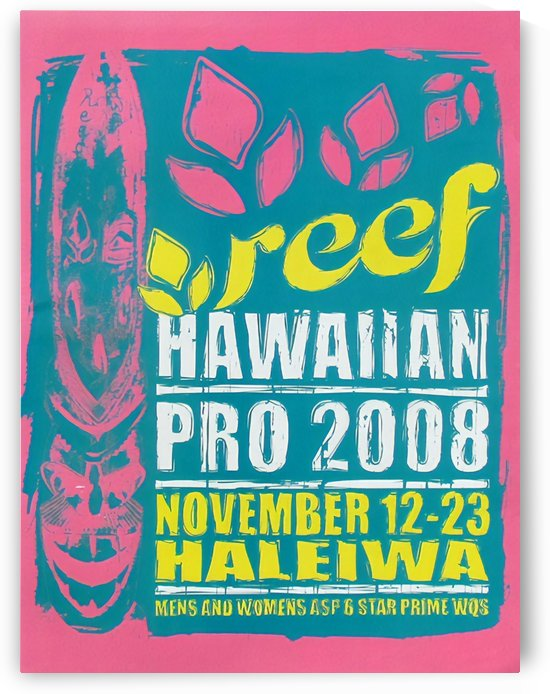 2008 REEF HAWAIIAN PRO Surf Competition Poster by Surf Posters
