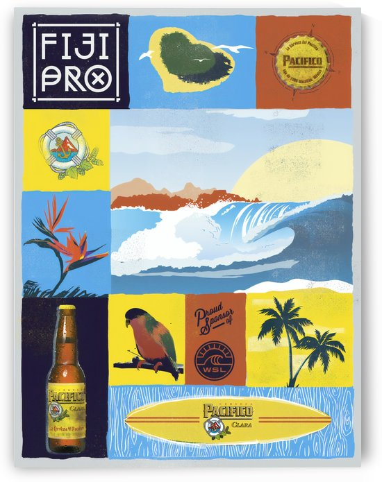 2015 FIJI PRO Surf Competition Print by Surf Posters