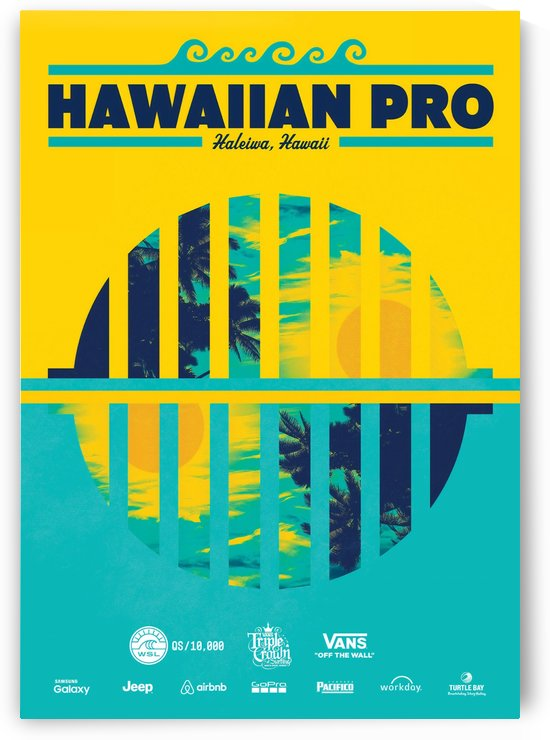 2016 HAWAIIAN PRO Surf Competition Print by Surf Posters