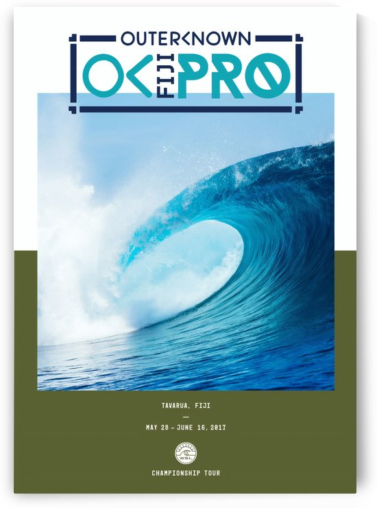 2017 OUTERKNOWN FIJI PRO Surf Competition Print by Surf Posters