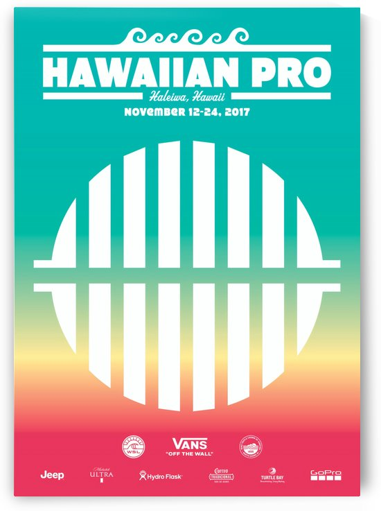 2017 HAWAIIAN PRO Surf Competition Print by Surf Posters