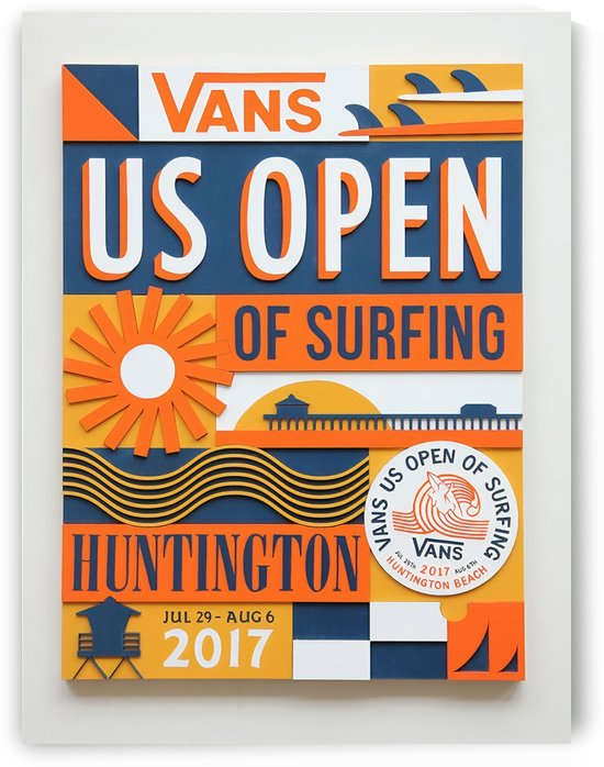 2017 VANS US OPEN OF SURFING Competition Print by Surf Posters