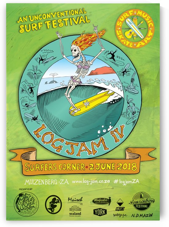 2018 LOG JAM IV Surf Print by Surf Posters